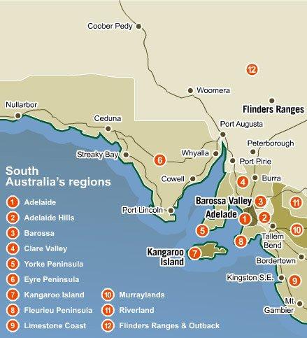 Оригинальная карта южной австралии на